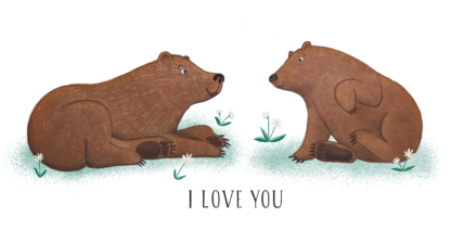Front design for I Love You Bears T-shirt