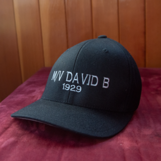 FLexFit Black Ball Cap with David B 1929
